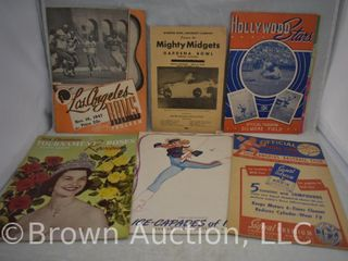 Assortment of old programs from baseball and football games  1944 Ice Capades  1954 Tournament of