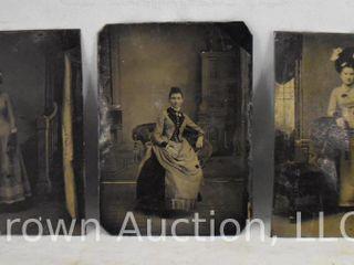 3  Old tin type photos