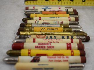 15  Advertising bullet pencils
