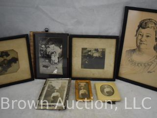6  Old family photographs   sweet print titled  First Real Sorrow