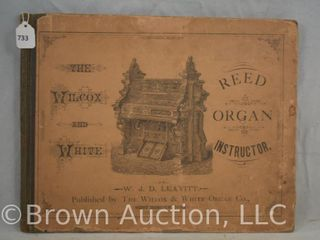 Reed Organ Instruction book and music published by The Wilcox   White Organ Co