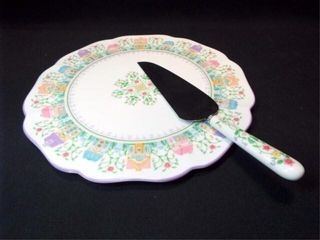 lennox Village Cake Plate  Server 1993