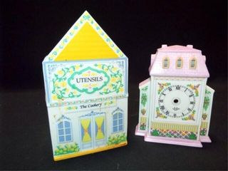 lennox Village Clock  Utensil Holder  2