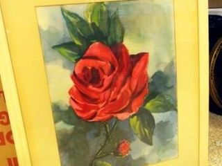 Red Roses  Framed  38 x 30
