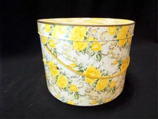 Yellow Rose Hat Box  12 x 9