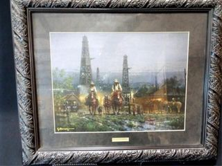 G  Harvey   Texas Cowboy  framed