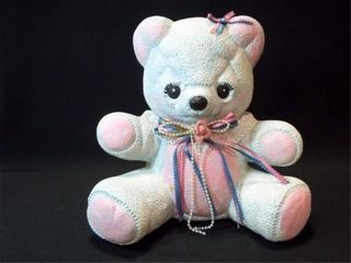 Ceramic Teddy Bear Bank  12