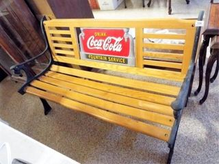 Cocal Cola Wood Metal Bench