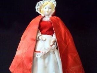Red Riding Hood Porcelain Doll  9