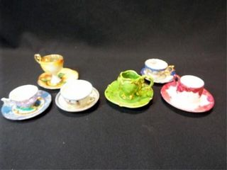 Saucers   Teacups  Mini  unmarked  6