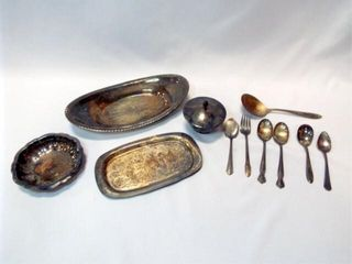 Silverplate Trays  Flatware  10