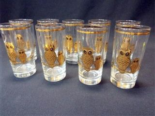 Owl Drinking Glasses  9