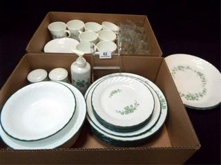 Corelle Callaway Ivy Dishes  Glasses  45