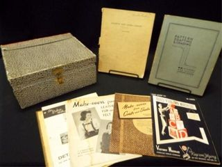 1940 s 50 s Clothing Design Books  Box