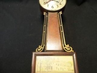 Sessions Mt  Vernon Banjo Wood Clock