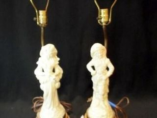 Electric lamp  Victorian Figures  32   2