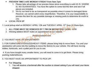 Auction Information-please Read!