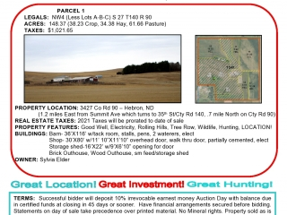 148.37 +/- Acres Absolute Real Estate