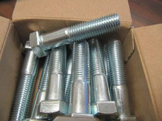 NEW Box of 10 Hillman Group 16 mm  2 00 x 70 mm Zinc Plated Metric Hex Bolts