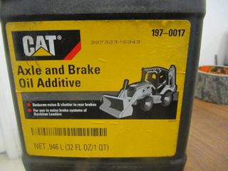 New   9 QTS of CAT Backhoe Axle   Brake Oil Additive 197 0017   9 QTs