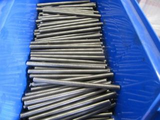 lOT 125Total NEW Stainless Steel All Thread Rod 3 8 inch X 16 X 6  in  l 125 Total