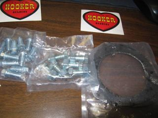 4901HKR 4901 3HKR1 and 4 HKR Hooker Headers Bolts   6 Bolts and Nuts for the Exhaust 12 Bolts for the Head