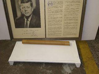 The Inaugural Address of President John F  Kennedy 18 x 26 5 x 1 in  with John F  Kennedy Inaugural Address Delivery 20 x 15