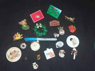 Christmas lapel Pins  20 pcs