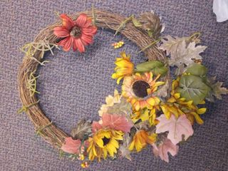 Fall Decor  Wreath  needs items reglued on it