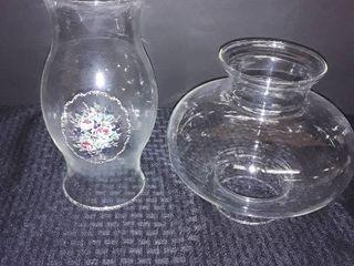 2 Glass Globes