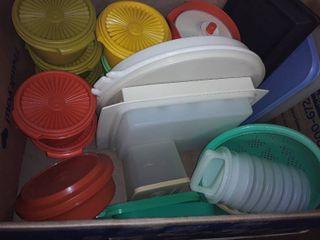 Box of Vintage Tupperware