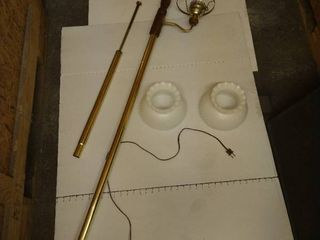 Tension rod floor lamp