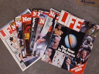 Assorted American Headline life and Newsweek Magazines
