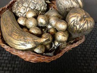 Basket of Faux Fruit