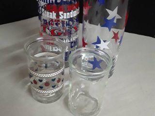 4 Vintage Glasses  TG   Y