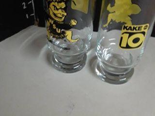 2 WSU and Kake 10 Glasses