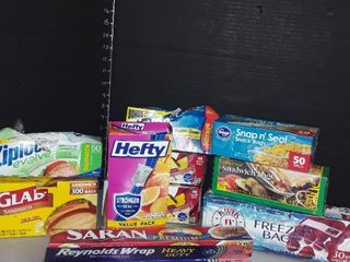 Food Storage Bags and Saran Wrap and Aluminum Foil