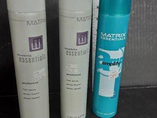 3 Cans of Matrix Hair Spray