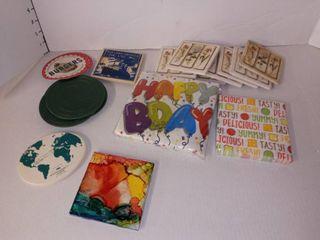 Coasters and Napkins