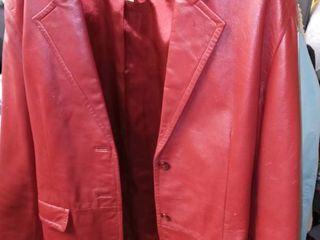 Margaret Godfrey Womens Size 14 Red leather Jacket