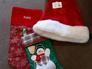 Stockings and Santa Hat