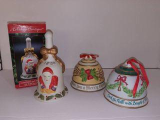 Porcelain Holiday Bells