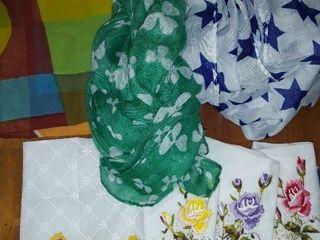 ladies Silk Scarves and Handkerchiefs