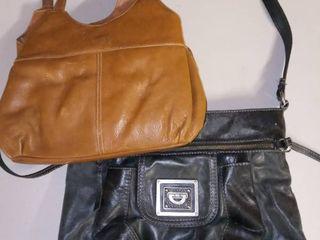 The Sak Black leather Handbag with Brown leather Handbag