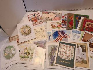 large variety of greeting cards and envelopes