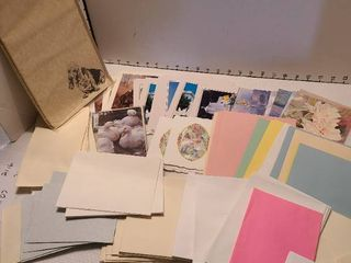 Cards  envelopes and stationary