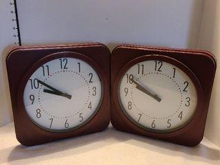 Plastic square clocks