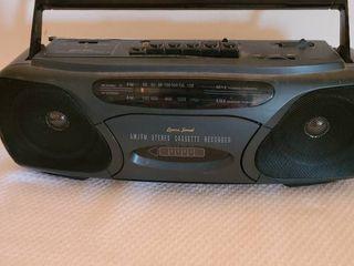 Am FM stereo cassette recorder