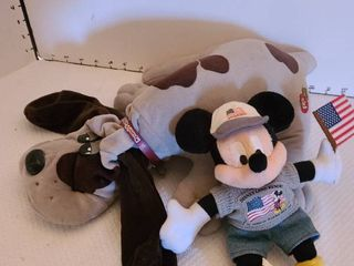 Pound puppy and Disney Mickey Mouse