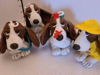 Assorted Hush Puppies basset hound stuffed animals